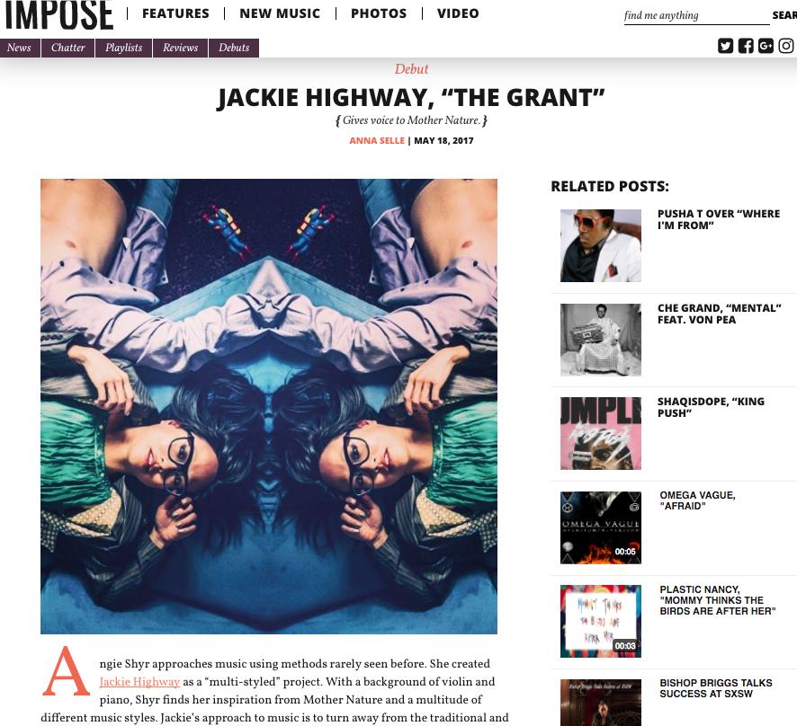 Impose Magazine JH screenshot 1